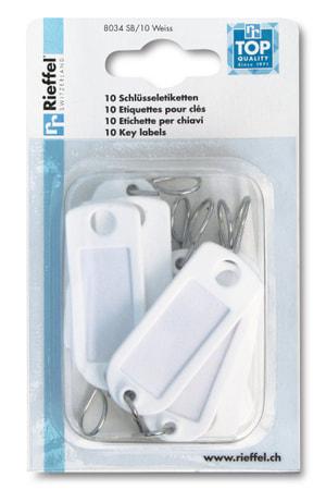 Schlüsseletiketten Weiss