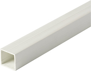 Tube carré 1.5 x 23.5 mm PVC blanc 1 m