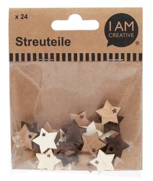 Streuteile Stern Natur 2 cm