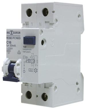 Interruttore automatico differenziale 16A 30mA 1-polo + N