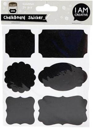 Kreidetafel Sticker, 4 Beutel