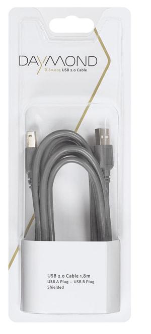 USB 2.0 1.8m grau