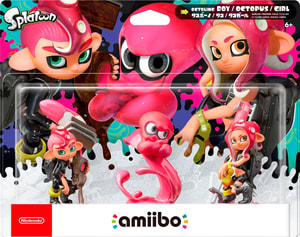 amiibo Splatoon Character Oktoling Girl, Boy & Octopus Set
