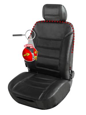 Coprisedile per sedile anteriore in pelle Billy nero