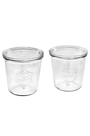 Vasetto di vetro con bordo arrotondato-Set