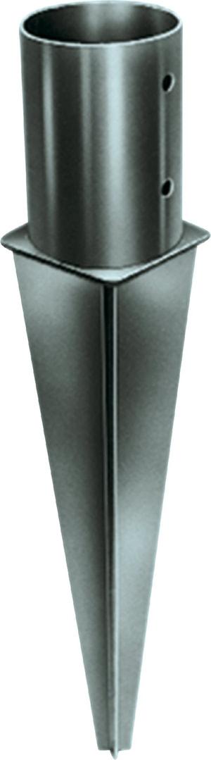 Ancoraggio a punta per pali rotondi da 10 cm