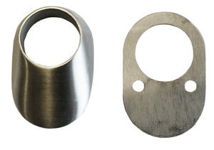 Rosace de protection oval  8 mm