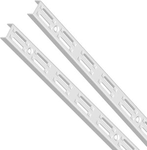 Wandschiene, 2-reihig weiss 1500 mm 2x