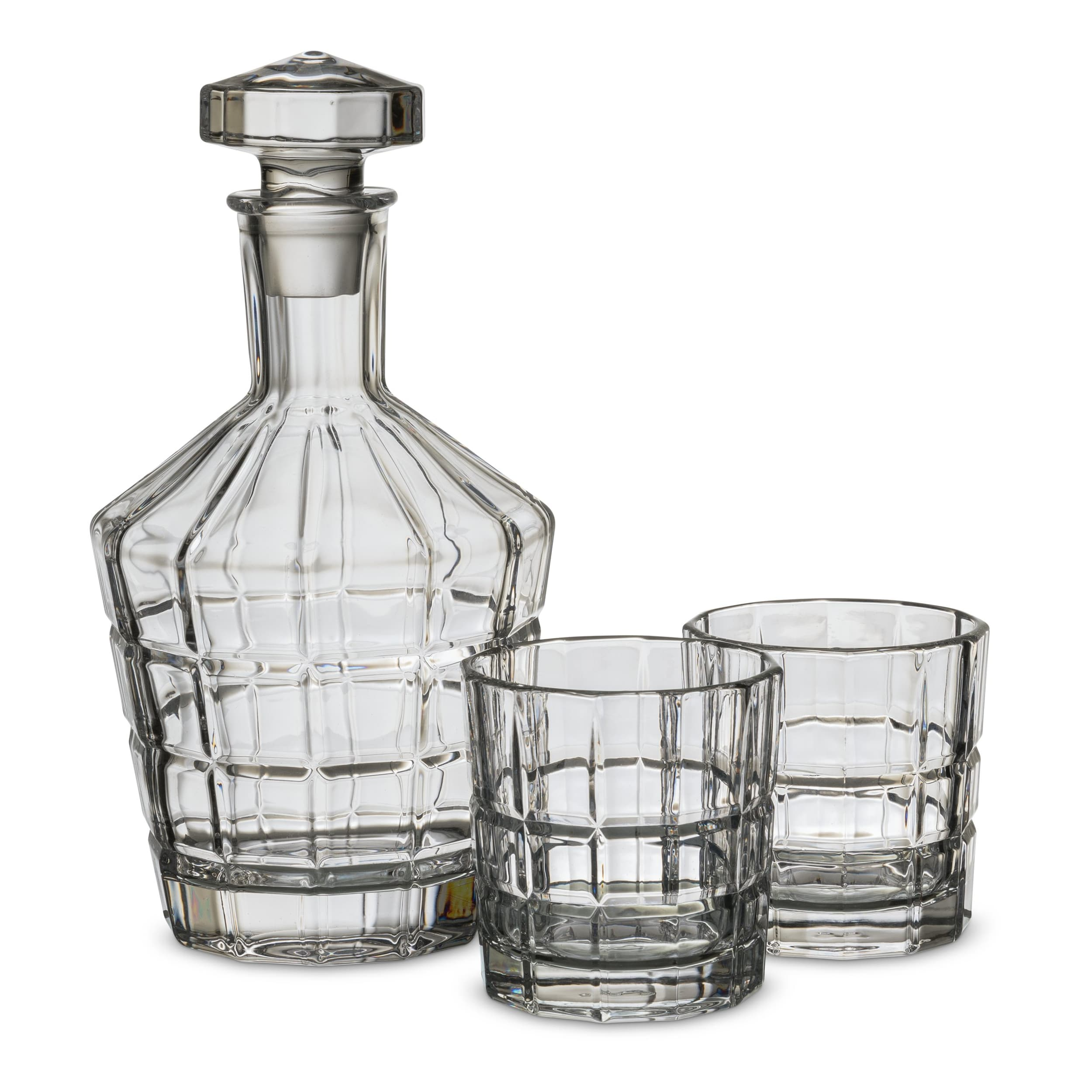 Image of 1 Karaffe; 2x Whiskybecher LEONARDO