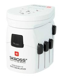 Adaptateur de voyage Skross Pro World +