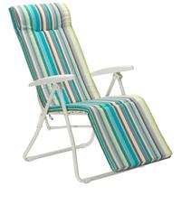 Chaise longue relax avec coussin