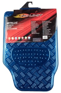 NO LIMIT Tapis en caoutchouc Metallic bleu