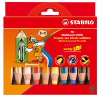 Multitalent-Stift STABILO® woody 3 in 1,  10 Stifte