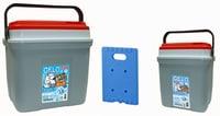 Kühlbox Kombi-Set NEVE grau/rot