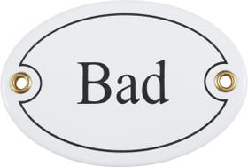 Emailschild Bad, oval 605076000000 Bild Nr. 1