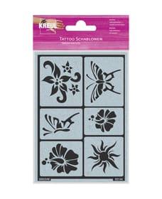 stampino tatuaggio sole, fiori, farfalla 666789800000 N. figura 1