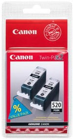 PGI-520 Twin Pack black Cartouche d'encre Canon 797519300000 Photo no. 1
