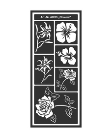 KREUL Flexible Designschablone selbstklebend Flowers C.Kreul 667216400000 Bild Nr. 1