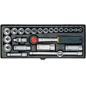 """Steckschlüssel-Satz 3/8""""-Ratsche für 6 - 24 mm, 24-teilig. Proxxon 601462100000 Bild Nr. 1"""
