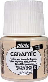 PÉBÉO Ceramic Keramikmalfarbe 32 Antique White 45ml Pebeo 663510003200 Farbe Antikweiss Bild Nr. 1