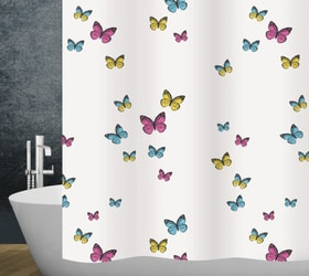 Duschvorhang Papillon diaqua 674091200000 Farbe Weiss Grösse 120 X 200 CM Bild Nr. 1