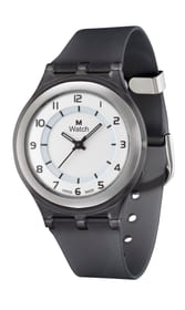 SLIM schwarz Armbanduhr