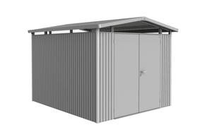 Casetta Panorama P5, porta doppia Biohort 647252600000 Colore Argento-Metallico Copertura di tetto Tetto in lamiera zincata N. figura 1