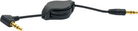 Audiokabel rollbar 0.8m schwarz Schwaiger 613182400000 Bild Nr. 1