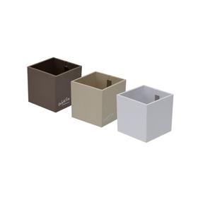 KalaMitica Cube Pot 657821900000 Couleur Gris taupe Taille L: 6.5 cm x L: 6.5 cm x H: 6.5 cm Photo no. 1