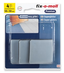 Universalgleiter 5 mm / 50 x 50 mm 4 x Universalgleiter Fix-O-Moll 607078700000 Bild Nr. 1