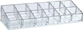 ACRYL box in 12 compartimentos 442089700510 Colore Transparente Dimensioni L: 24.8 cm x P: 8.6 cm x A: 5.0 cm N. figura 1