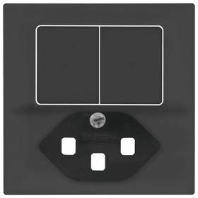 Edizio Due UP Combinaison petite 1xT23 Set de recouvrement Feller 612188400000 Photo no. 1