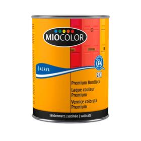 LAQUE PREM SAT NOIR FONCE 0,500L Miocolor 661461600000 Colore Nero N. figura 1