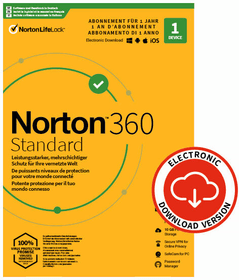 Security 360 Standard with 10GB 1 Device - PC/Mac/Android/iOS - ESD Digital (ESD) Norton 785300155781 Photo no. 1