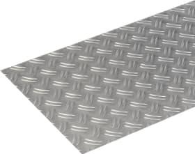 Lamiera striata 1.5 x 300 mm naturale 1 m alfer 605051400000 Tipo Lamiera striata Taglio a 300 mm x b 1 m / 1,5 mm - 2 mm N. figura 1