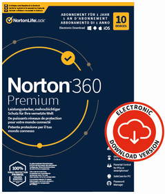 Security 360 Premium with 75GB 10 Device - PC/Mac/Android/iOS - ESD Digital (ESD) Norton 785300155784 Photo no. 1