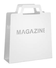 MAGAZINE Zeitschriftensammler 440625000000 Farbe Weiss Grösse B: 30.0 cm x T: 10.5 cm x H: 35.5 cm Bild Nr. 1