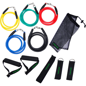 Multifunktionales Widerstandsbänder Set Gymnastikband Tunturi 463063100000 Bild-Nr. 1