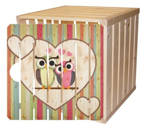 Cassetta in legno A1/2 con porta gufo HolzZollhaus 643206100000 N. figura 1