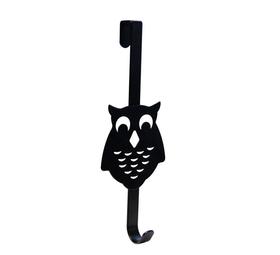 Appendiabiti per porta con civetta, 1 gancio, nero 607128300000 N. figura 1