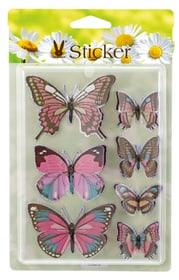 Pasqua Adesivi a forma di farfalla Geroma 657794600000 Colore Rosa Taglio L: 9.0 cm x P: 7.0 x A: 4.5 cm N. figura 1