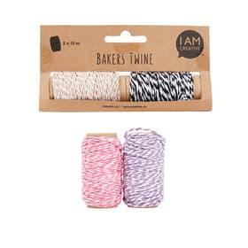 Bakers Twine I AM CREATIVE 665642500050 Sujet Candy 2x10m Bild Nr. 1