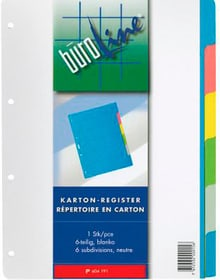 Register Karton farbig A4 604191 6-teilig Register Karton Büroline 785300150481 Bild Nr. 1