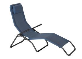 Chaise longue inclinable Lit de camp 753101400006 Taille L: 170.0 cm x L: 65.0 cm x H: 101.0 cm Couleur de l'habillage Bleu mélange Photo no. 1