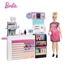 Coffee Shop Playset and Doll Set di bambole Barbie 747950000000 N. figura 1