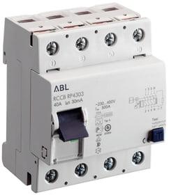 FI Schalter 30mA 40A 4-polig Fehlerstrom-Schutzschalter ABL 612164200000 Bild Nr. 1