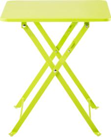 Table pliante CANCUN, vert clair, 40 cm
