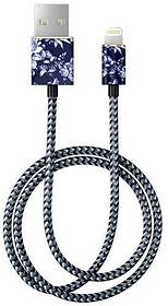 "Cavo 1.0m, Lightning->USB  ""Sailor Blue Bloom"" Cavo iDeal of Sweden 785300148087 N. figura 1"