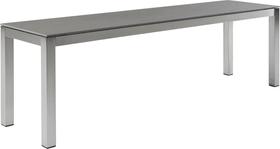 LOCARNO, 200 cm, struttura acciaio inox, piano Ceramica Panca 753193320082 Taglio L: 200.0 cm x L: 35.0 cm x A: 45.0 cm Colore Basalt N. figura 1