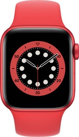 Watch Series 6 GPS 40mm Red Aluminium Red Sport Band Smartwatch Apple 785300155471 Bild Nr. 1